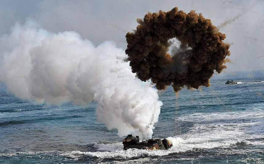 Chùm ảnh: Quân đội Mỹ - Hàn tập trận đổ bộ - 13