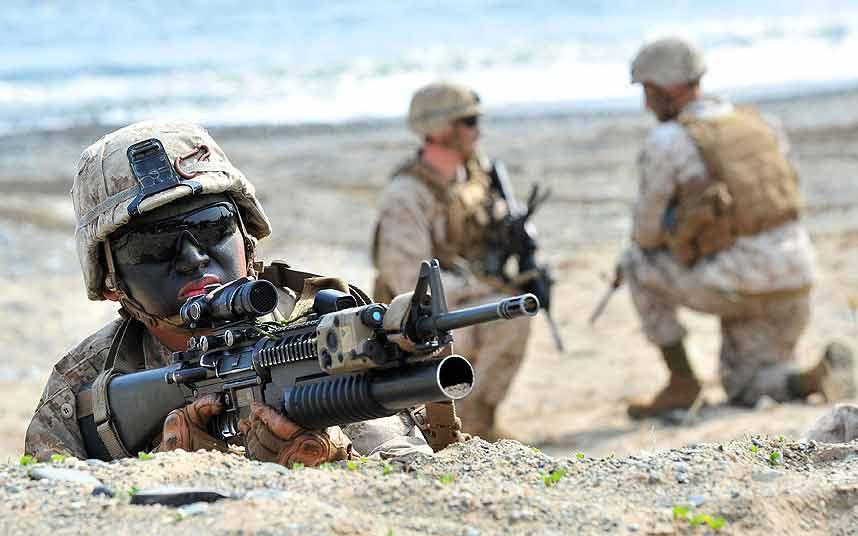 Chùm ảnh: Quân đội Mỹ - Hàn tập trận đổ bộ - 2