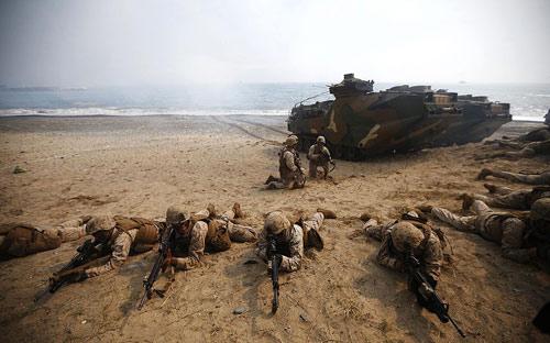 Chùm ảnh: Quân đội Mỹ - Hàn tập trận đổ bộ - 9