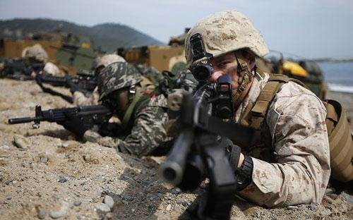 Chùm ảnh: Quân đội Mỹ - Hàn tập trận đổ bộ - 4