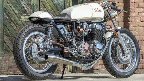 Honda CB750 tỏa sáng với đồng và crôm - 1