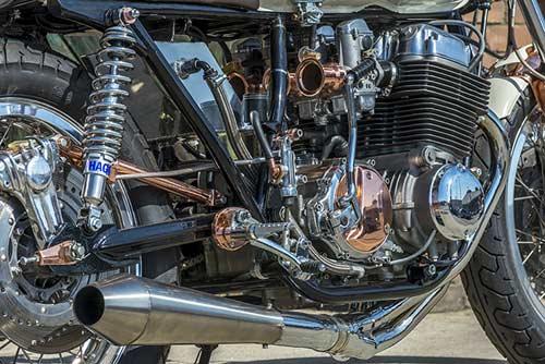 Honda CB750 tỏa sáng với đồng và crôm - 2