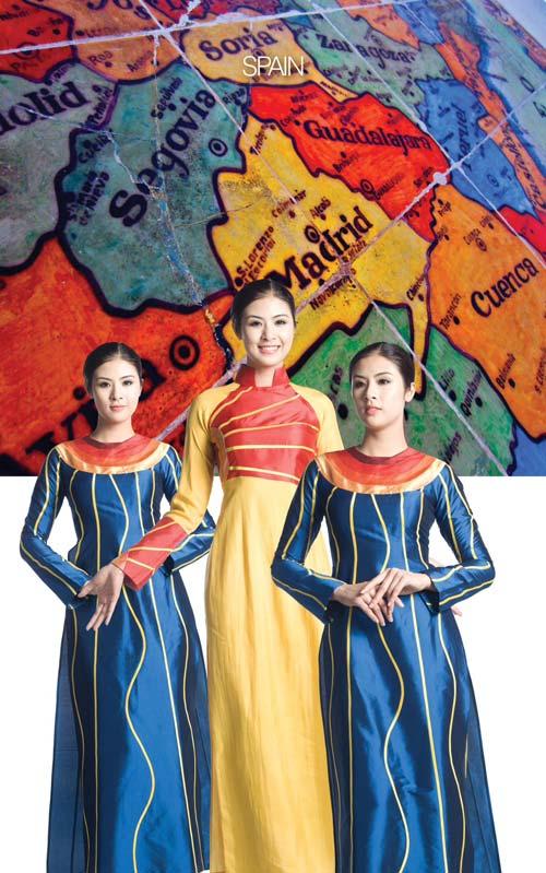 Thích thú ngắm thế giới qua tà áo dài Việt - 13