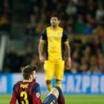 Bóng đá - Pique chấn thương sau va chạm với Costa