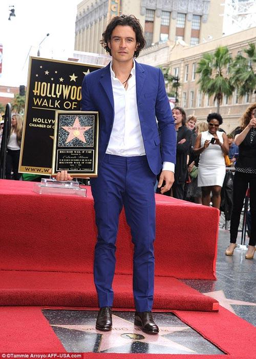Bố con Orlando nhận sao trên đại lộ Hollywood - 3
