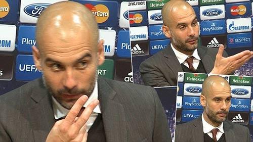 Video: Guardiola nổi cáu với phóng viên - 1