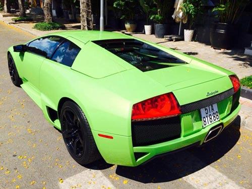Lamborghini Murcielago xanh cốm thay biển số xe - 3
