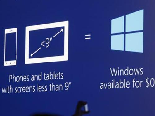 Miễn phí Windows cho thiết bị dưới 9-inch - 1