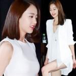 """Mỹ nữ Hàn  """" đốn tim """"  fan nhờ màu trắng"""