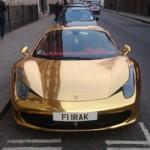 Ô tô - Xe máy - Ferrari 458 Spider mạ crôm bóng loáng tại London