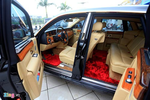 Cận cảnh Rolls-Royce Phantom mạ vàng ở Hà Nội - 11