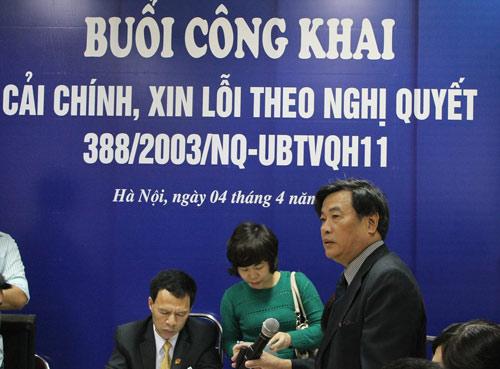Tòa Hà Nội xin lỗi công khai người bị xử oan - 1