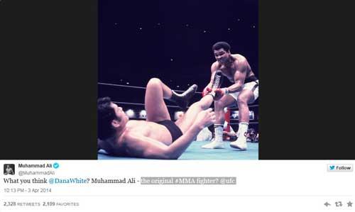 Huyền thoại Ali thách thức, chủ xị UFC chào thua - 1