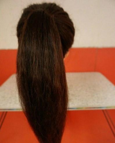 Khéo léo ăn gian chiều cao nhờ tóc búi - 1