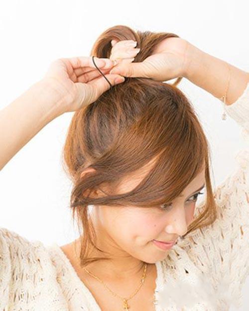 5 bước búi tóc cao xinh xắn đón hè - 2
