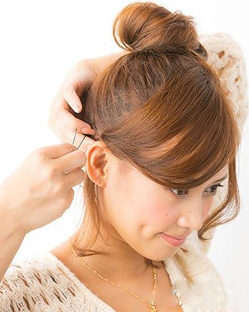 5 bước búi tóc cao xinh xắn đón hè - 6