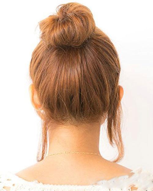 5 bước búi tóc cao xinh xắn đón hè - 7