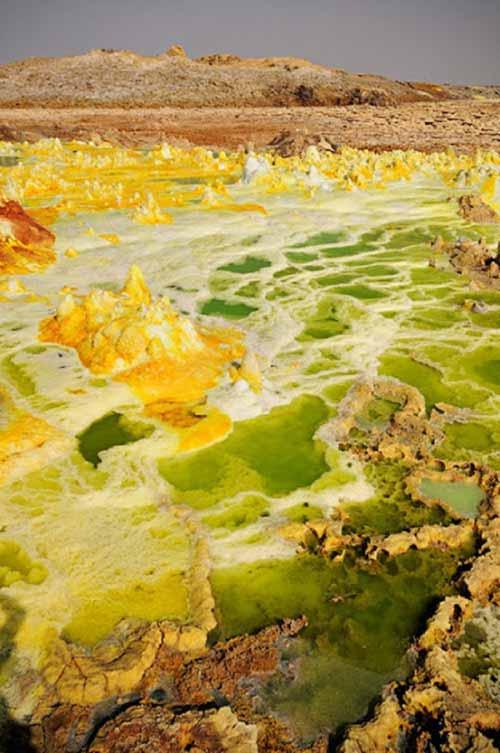 Thế giới đa sắc màu của núi lửa ở Ethiopia - 4