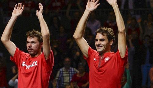 TK Davis Cup: Federer, Wawrinka lật ngược thế cờ - 1