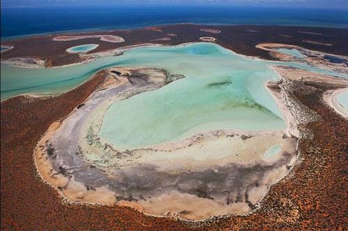 Đẹp ngoạn mục hồ thạch cao ở vịnh Cá mập - 1