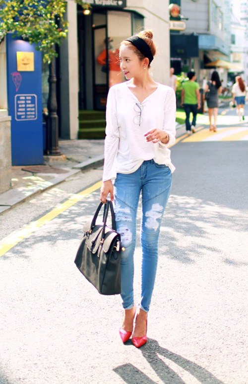 Cô gái mùa hè cần một chiếc jeans rách! - 8