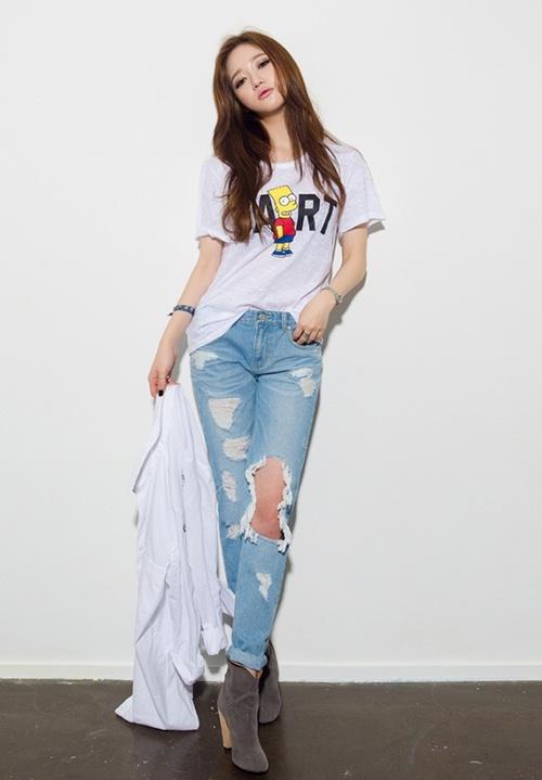 Cô gái mùa hè cần một chiếc jeans rách! - 2