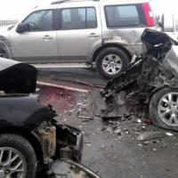 Tai nạn trên cầu Thăng Long, 5 người nhập viện