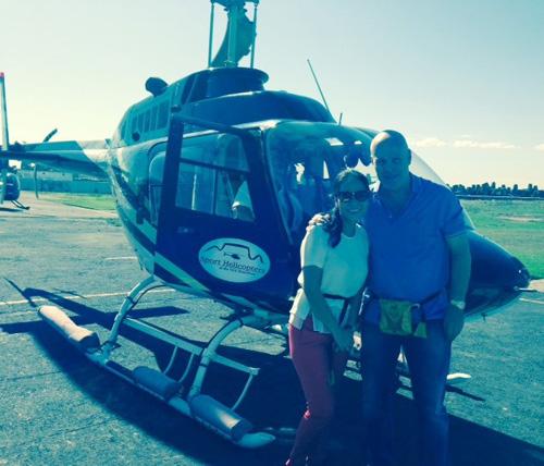Vợ chồng Thu Minh đi trực thăng du ngoạn Nam Phi - 1
