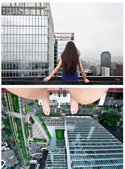 Toát mồ hôi vì nữ nhiếp ảnh gia lơ lửng trên cao - 3