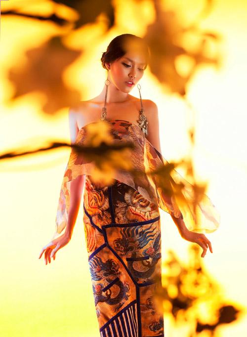 Lặng ngắm những mẫu áo dài đẹp mùa lễ hội - 3