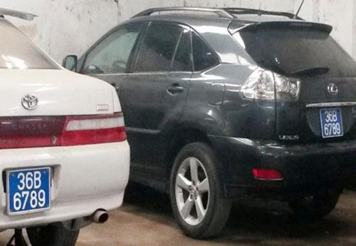 """Thanh Hóa: Xôn xao 2 ôtô có cùng """"biển xanh VIP"""" - 1"""
