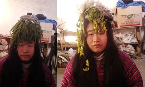 """""""Tiên nữ"""" Trung Quốc nổi tiếng vì đeo rác lên người - 9"""