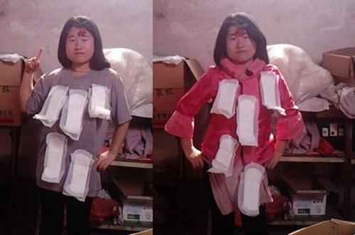 """""""Tiên nữ"""" Trung Quốc nổi tiếng vì đeo rác lên người - 3"""