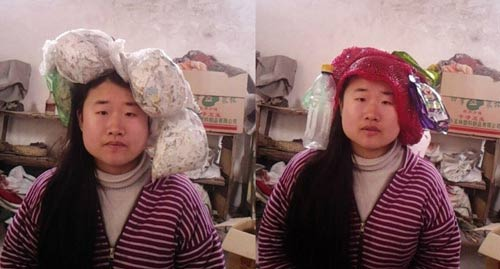 """""""Tiên nữ"""" Trung Quốc nổi tiếng vì đeo rác lên người - 4"""