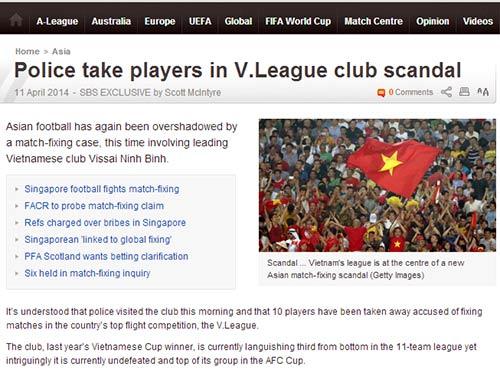 """Báo chí thế giới """"sốc"""" về vụ bán độ ở V.Ninh Bình - 1"""
