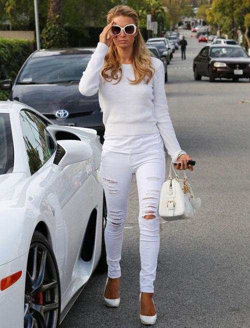 Học lỏm sao Hollywood mặc jeans rách ngày hè! - 9