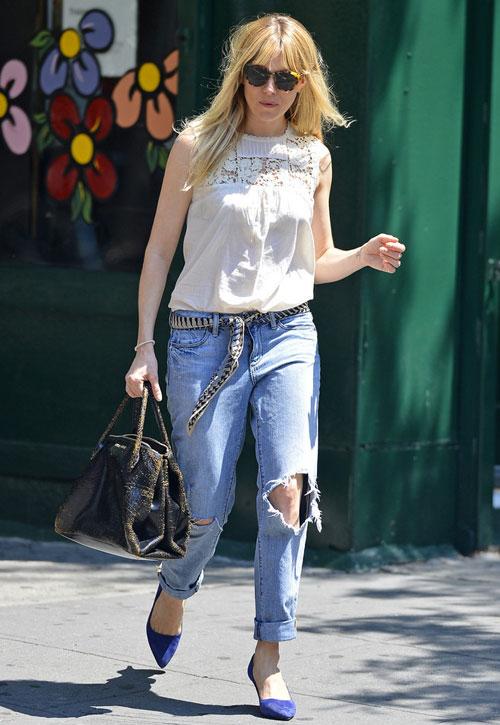 Học lỏm sao Hollywood mặc jeans rách ngày hè! - 10