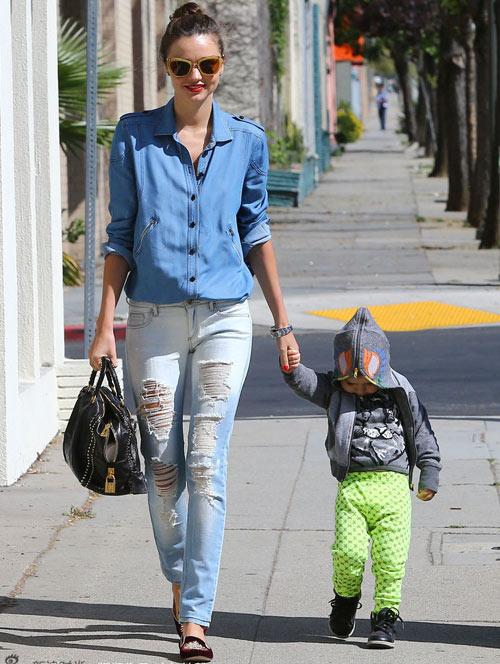 Học lỏm sao Hollywood mặc jeans rách ngày hè! - 7