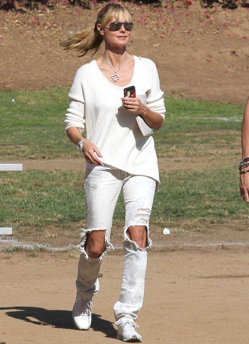 Học lỏm sao Hollywood mặc jeans rách ngày hè! - 13
