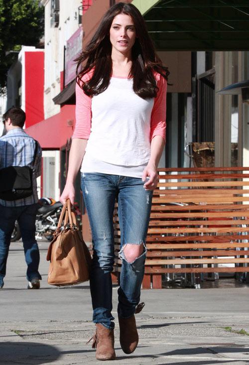 Học lỏm sao Hollywood mặc jeans rách ngày hè! - 14