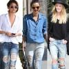 Học lỏm sao Hollywood mặc jeans rách ngày hè!