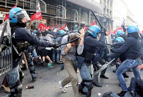 Italia: Rome tê liệt vì biểu tình chống chính phủ - 1