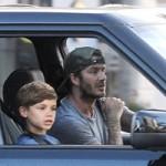 Ô tô - Xe máy - David Beckham lượn phố bằng Range Rover đen