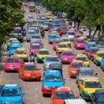 Du lịch - Độc đáo những chiếc taxi sắc màu ở Bangkok