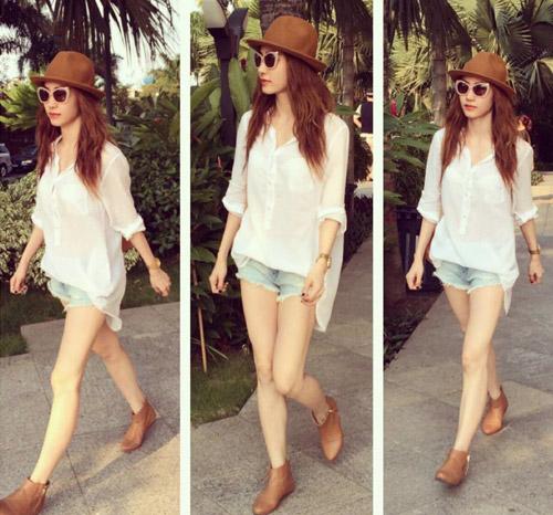 Học sao Việt cách mặc quần ngắn mát mẻ - 13