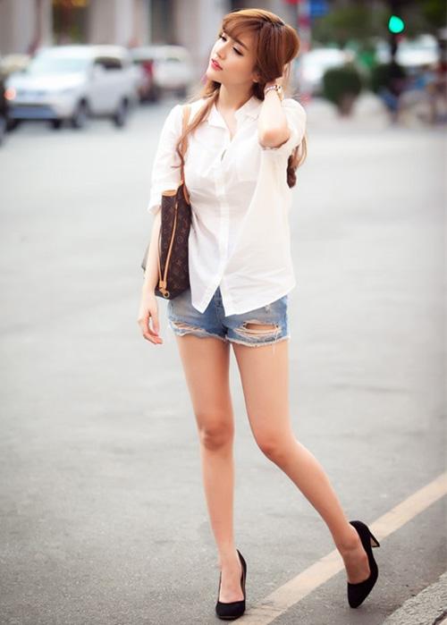 Học sao Việt cách mặc quần ngắn mát mẻ - 1