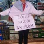"""Tin tức trong ngày - Vụ đeo bảng """"tôi ăn trộm"""": Bắt 4 NV siêu thị"""