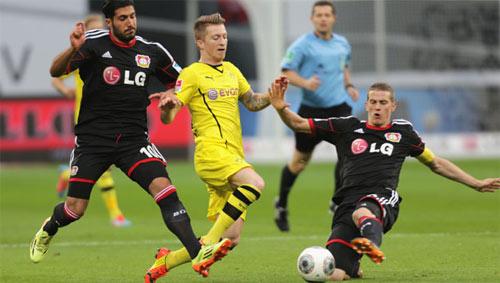 Leverkusen - Dortmund: Hiệp 1 siêu kịch tính - 1