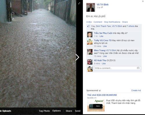 Ảnh Hà Nội ngập lụt tràn lên cả mạng xã hội - 1