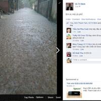 Ảnh Hà Nội ngập lụt tràn lên cả mạng xã hội